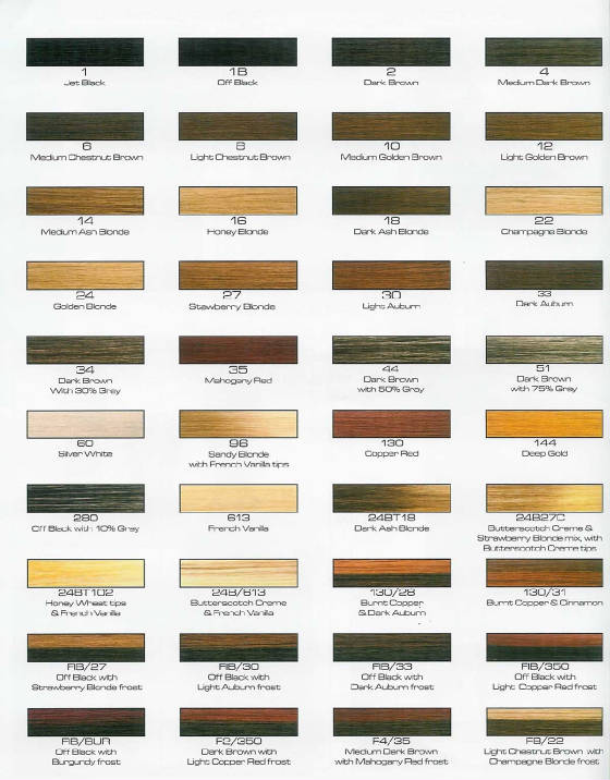Remy Weave Color Chart Rebellions